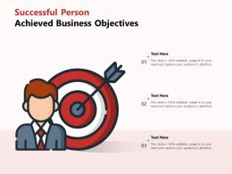 Successful Person Achieved Business Objectives