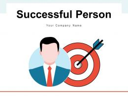 Successful Person Corporate Goal Champion Business Objectives