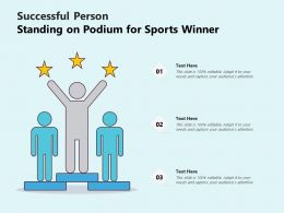 Successful Person Standing On Podium For Sports Winner