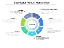 Successful Product Management Ppt Powerpoint Presentation Icon Cpb