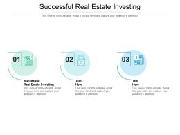Successful Real Estate Investing Ppt Powerpoint Presentation Gallery Microsoft Cpb