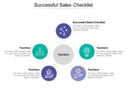 Successful Sales Checklist Ppt Powerpoint Presentation Gallery Styles Cpb