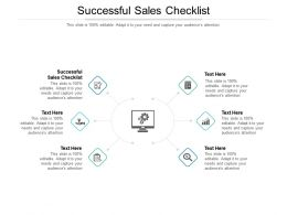 Successful Sales Checklist Ppt Powerpoint Presentation Graphics Cpb