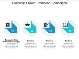 Successful Sales Promotion Campaigns Ppt Powerpoint Presentation Gallery Aids Cpb
