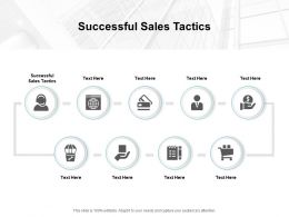 Successful Sales Tactics Ppt Powerpoint Presentation Gallery Graphics Example Cpb