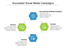 Successful Social Media Campaigns Ppt Powerpoint Presentation Visual Aids Outline Cpb