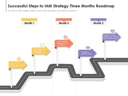 Successful Steps To IAM Strategy Three Months Roadmap