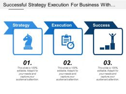 Successful Strategy Execution For Business With Direction Arrows