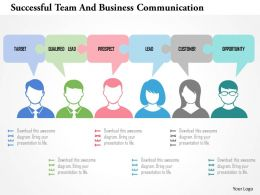 Successful Team And Business Communication Flat Powerpoint Design