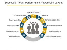Successful Team Performance Powerpoint Layout