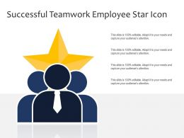 Successful Teamwork Employee Star Icon