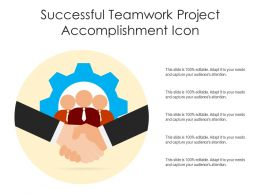 Successful Teamwork Project Accomplishment Icon
