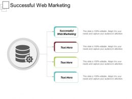 Successful Web Marketing Ppt Powerpoint Presentation Gallery Slideshow Cpb