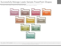 Successfully Manage Leads Sample Powerpoint Shapes