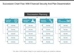 Succession Chart Flow With Financial Security And Plan Dissemination