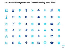 Succession Management And Career Planning Icons Slide Arrows L817 Ppt Portrait