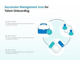 Succession Management Icon For Talent Onboarding