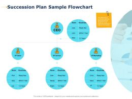 Succession Plan Sample Flowchart Person Ppt Powerpoint Presentation Professional