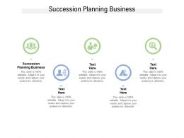 Succession Planning Business Ppt Powerpoint Presentation Gallery Example File Cpb