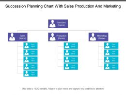 Succession Planning Chart With Sales Production And Marketing