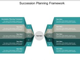 Succession Planning Framework Ppt Powerpoint Presentation Ideas Inspiration Cpb