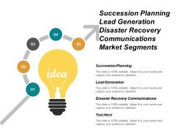 Succession Planning Lead Generation Disaster Recovery Communications Market Segments Cpb