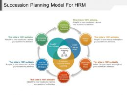 Succession Planning Model For Hrm Ppt Infographics