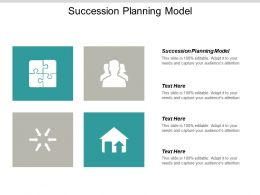 Succession Planning Model Ppt Powerpoint Presentation Gallery Visuals Cpb