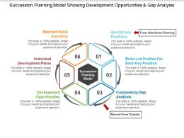 Succession Planning Model Showing Development Opportunities And Gap Analysis