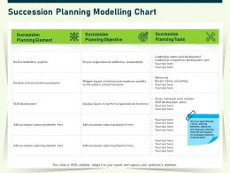 Succession Planning Modelling Chart Critical Ppt Powerpoint Presentation Summary Information