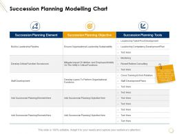 Succession Planning Modelling Chart Organizational Leadership Ppt Presentation Elements
