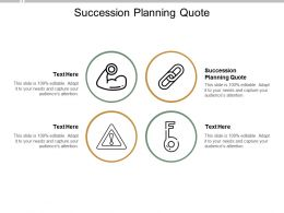 Succession Planning Quote Ppt Powerpoint Presentation File Formats Cpb