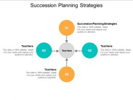 Succession Planning Strategies Ppt Powerpoint Presentation Ideas Display Cpb
