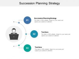 Succession Planning Strategy Ppt Powerpoint Presentation Infographic Template Picture Cpb
