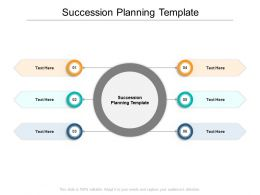 Succession Planning Template Ppt Powerpoint Presentation Ideas Slides Cpb