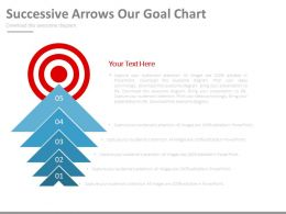 Successive Arrows Our Goal Chart Powerpoint Slides