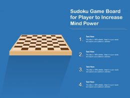 Sudoku Game Board For Player To Increase Mind Power