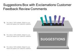 Suggestions Box With Exclamations Customer Feedback Review Comments