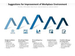 Suggestions For Improvement Of Workplace Environment