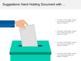 Suggestions Hand Holding Document With Recommendation Improvement