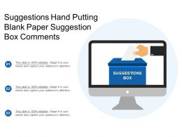 Suggestions Hand Putting Blank Paper Suggestion Box Comments