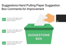 Suggestions Hand Putting Paper Suggestion Box Comments For Improvement