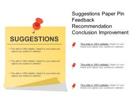 Suggestions Paper Pin Feedback Recommendation Conclusion Improvement