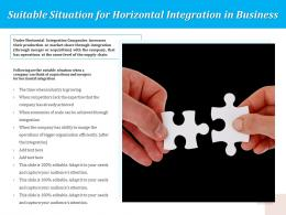 Suitable Situation For Horizontal Integration In Business
