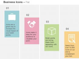 Suitcase Business Deal Cube Report Ppt Icons Graphics