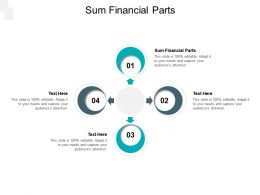 Sum Financial Parts Ppt Powerpoint Presentation Layouts Images Cpb