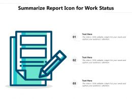 Summarize Report Icon For Work Status