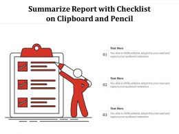 Summarize Report With Checklist On Clipboard And Pencil