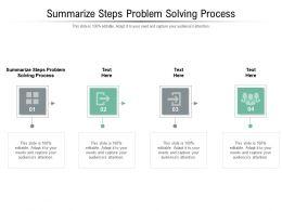 Summarize Steps Problem Solving Process Ppt Presentation Slides Infographics Cpb