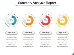 Summary Analysis Report Presentation Powerpoint Example